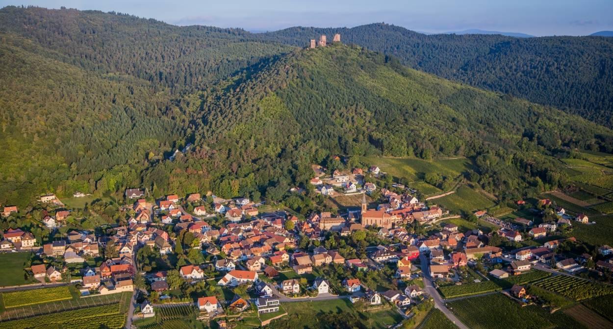Vue sur Husseren-les-Châteaux © VUANO-ConseilVinsAlsace