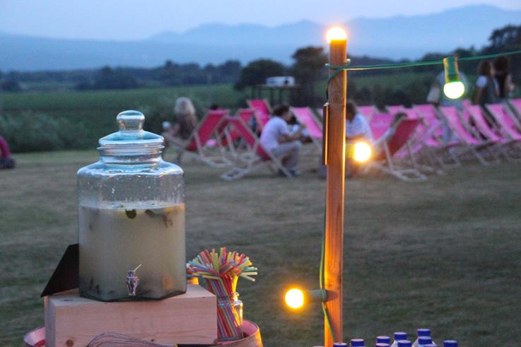 Cuvée le pas du moine vin de Provence cinéma en plein air au château gassier ©DR