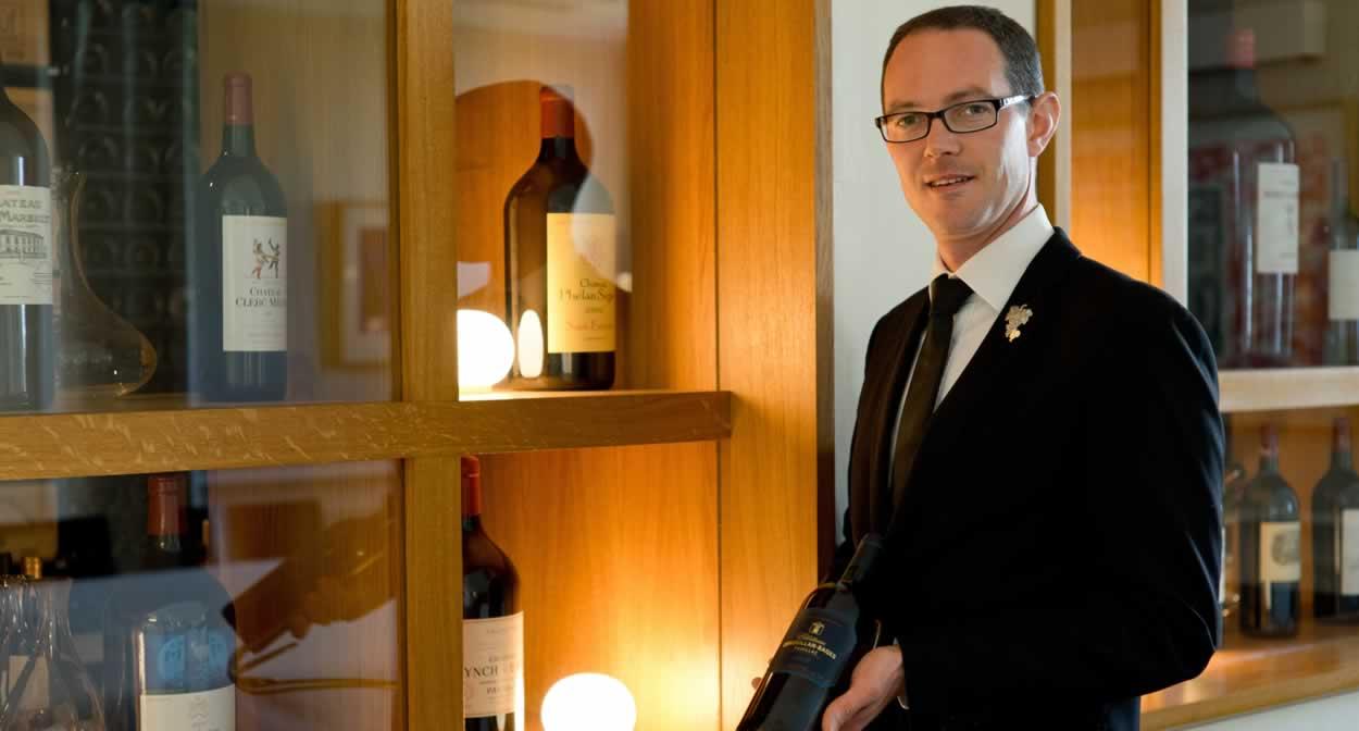 Arnaud Le Saux, Chef sommelier du Château Cordeillan-Bages © Jérôme Mondière