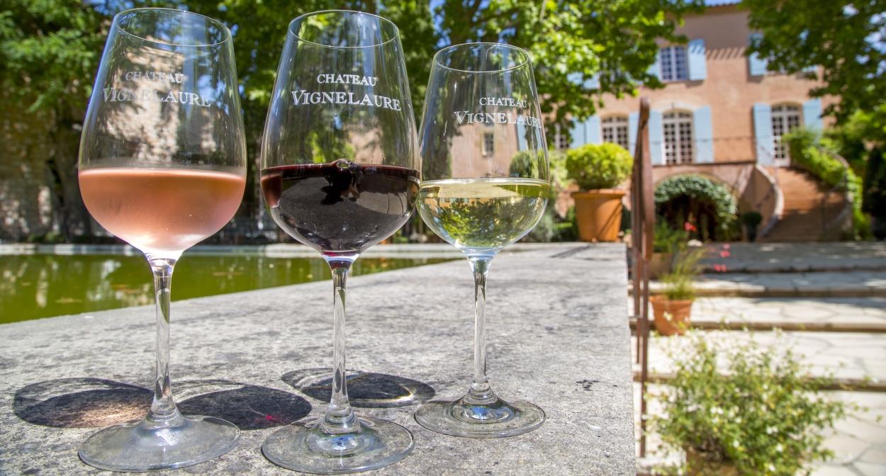 Au Château Vignelaure en Pays d'Aix Sud Lubéron © S. Spiteri