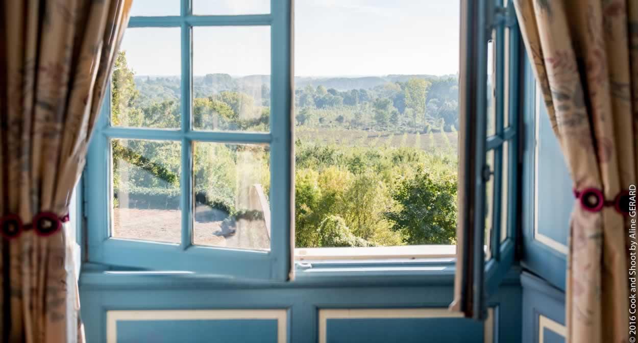 Chambre avec vue sur le Loir ©Relais & Châteaux
