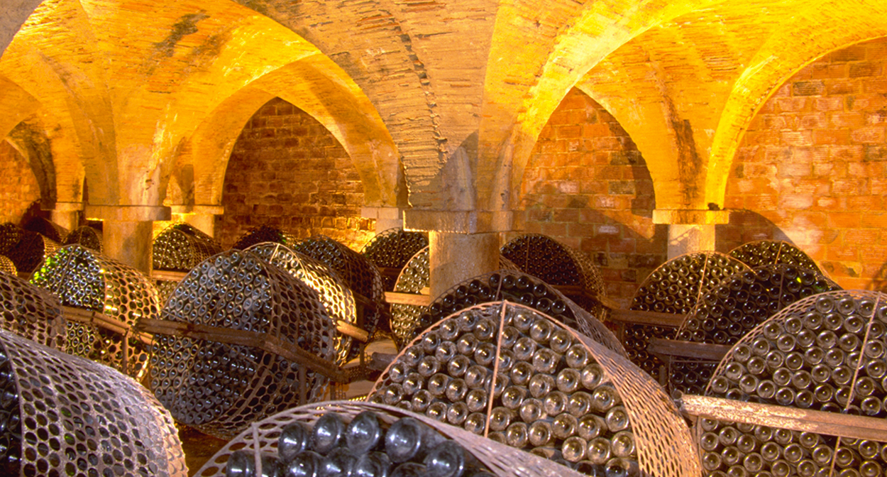 Cellars of the Chateau de Monluc