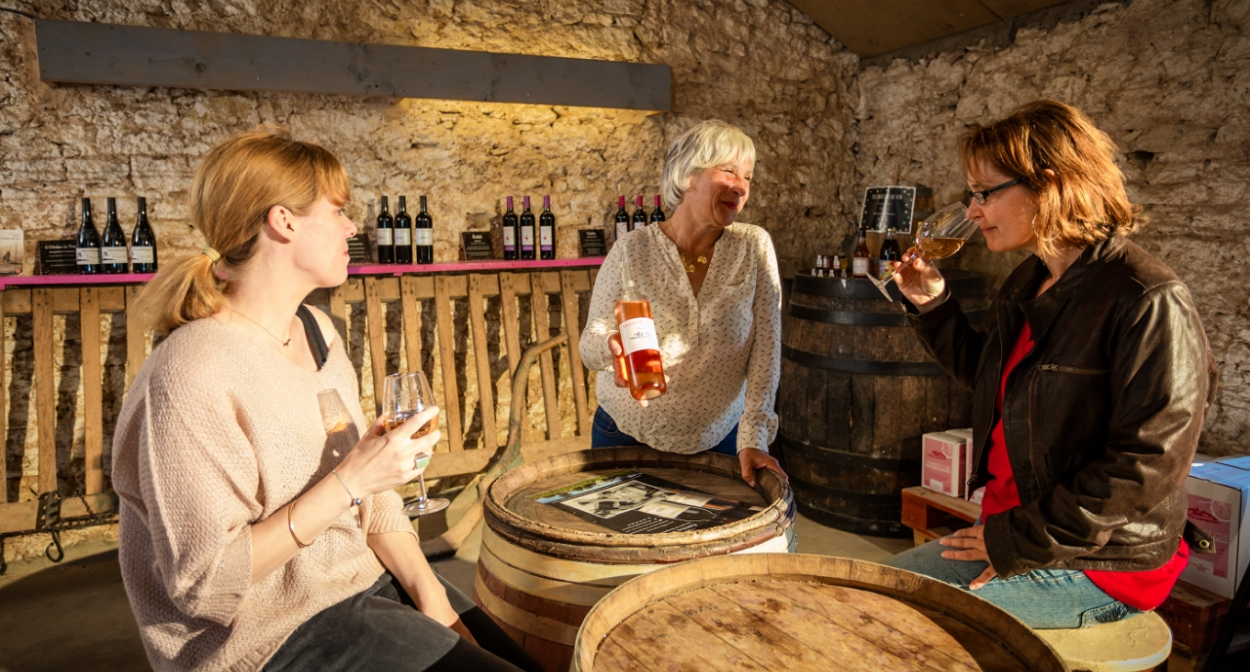 Tasting wines and local specialties ©château de Fourques
