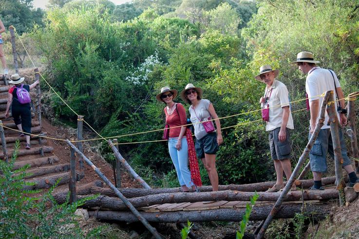 Circulade vigneronne en terrasses du larzac randonnees dans les vignes languedoc ©CIVL