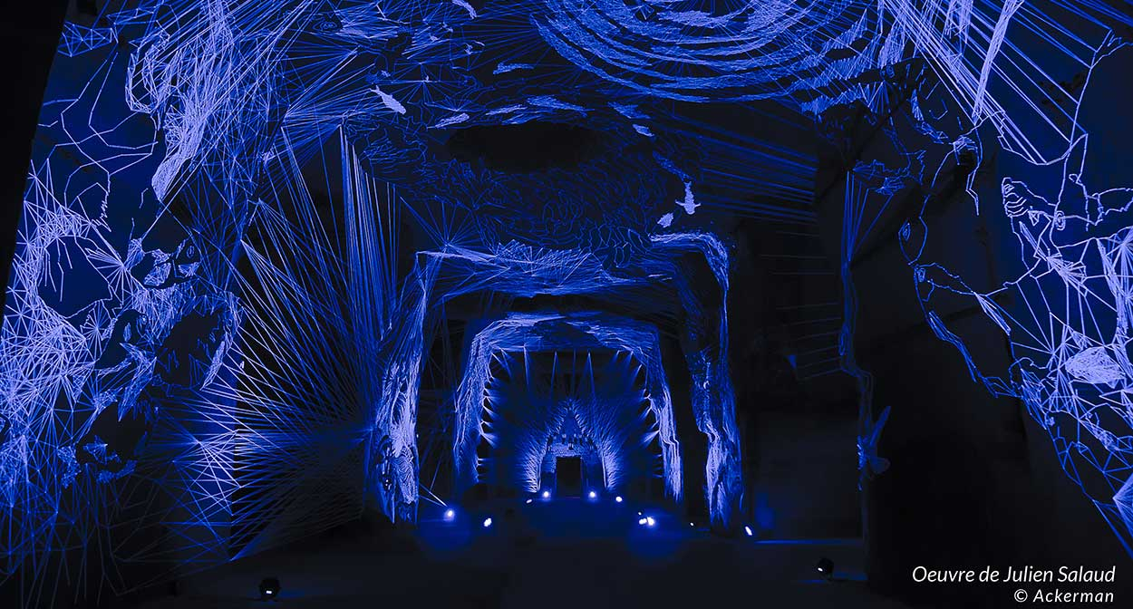 Oeuvres monumentales dans les caves Ackerman