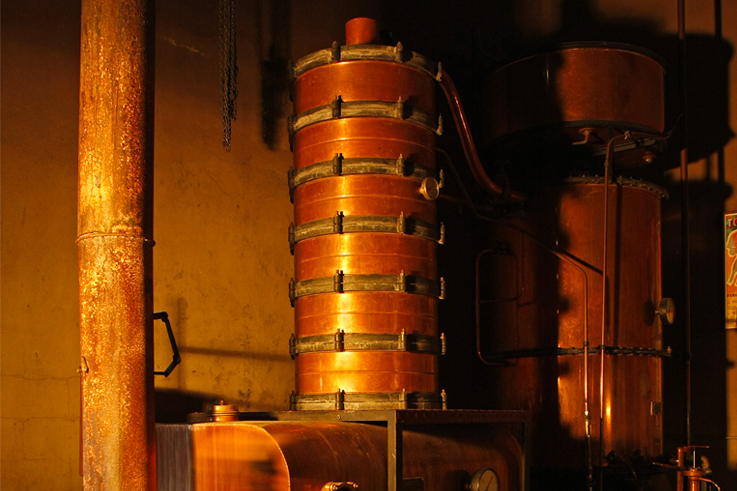 Alambic flamme de l'armagnac distillation fête vendanges ©Michel Carossio Collection BNI Armagnac