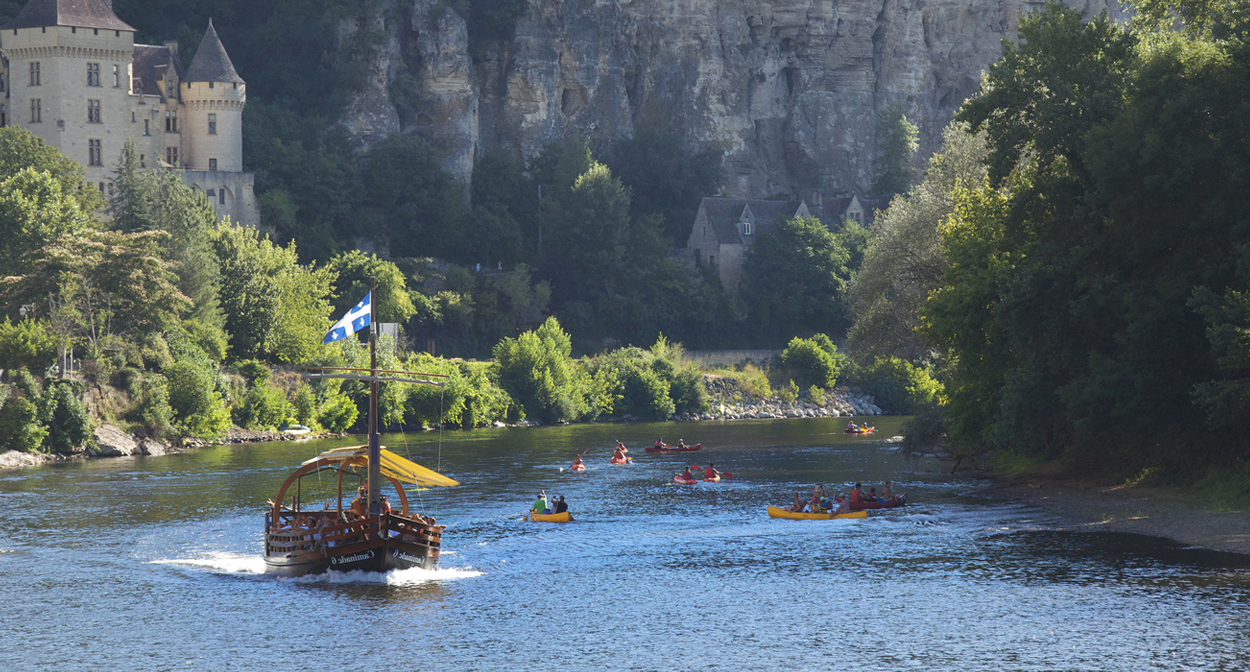 Boat ride on the Dordogne