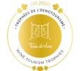 Logo trophées de l'oenotourisme or