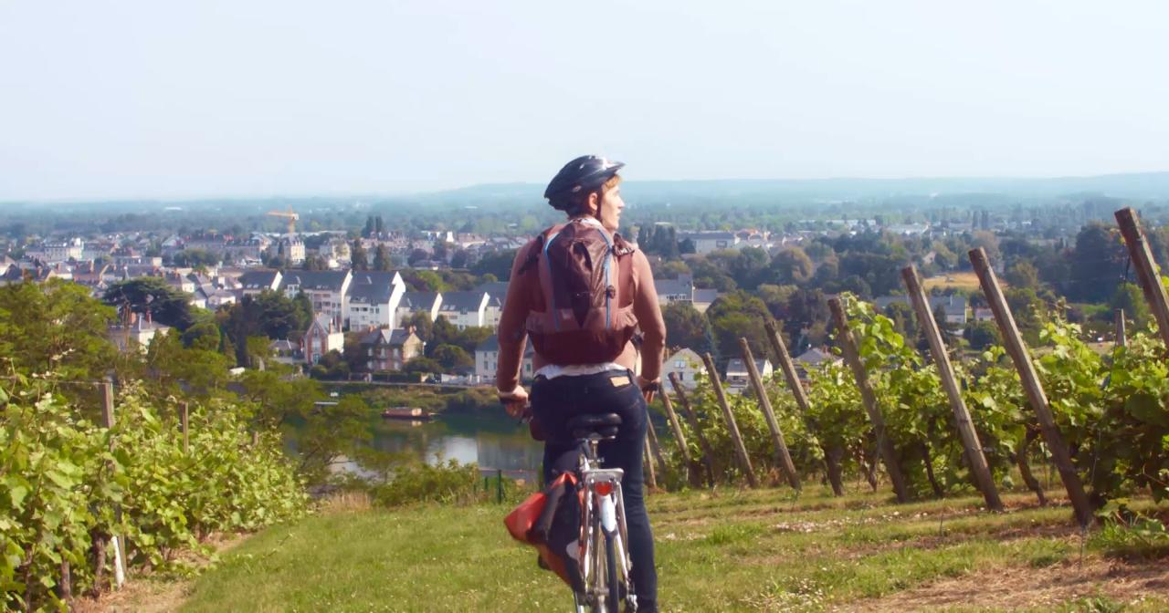 Cycling the Loire Valley vineyard ©Atout France
