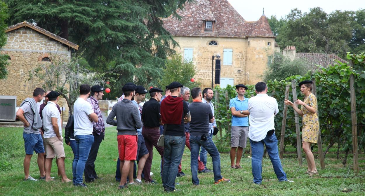 Visite dans les vignes de Plaimont ©Plaimont