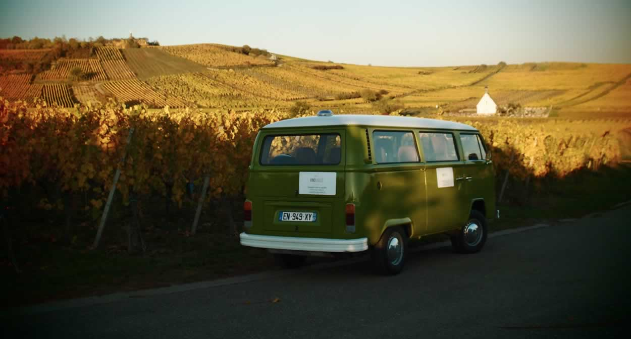 Take a trip through the vineyards in a camper van @ Vino Varlot