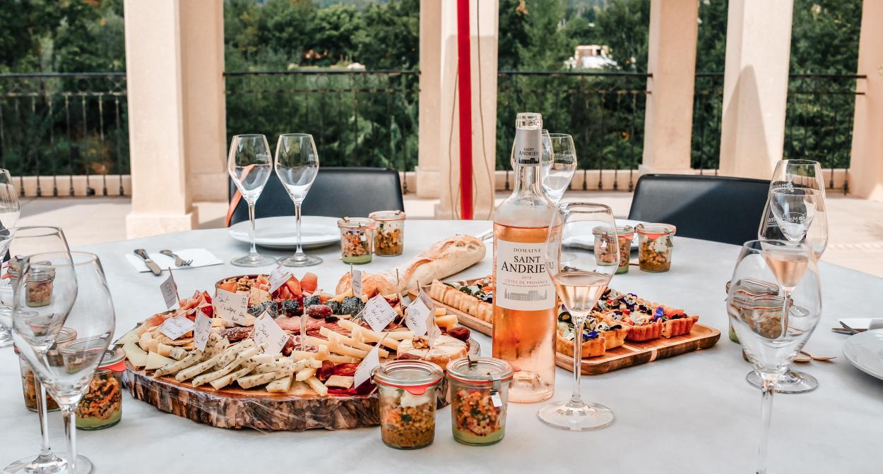 Provence wine & food pairing @Les Gorges de Pennafort ©Grapechic