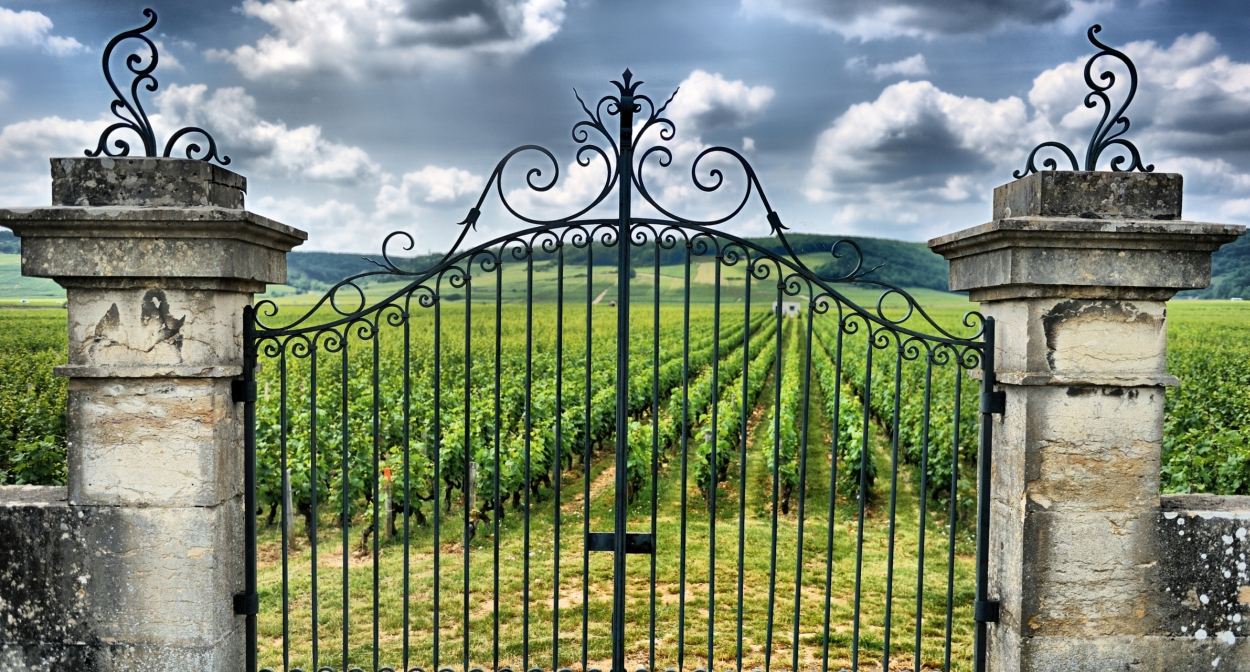 The château gates at Saint-Emilion © Ophorus