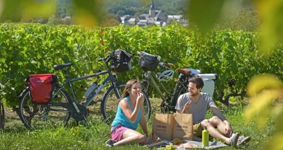 Cycling through the Loir Valley wine region - Chahaignes © J. Damase