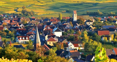 Bergholtz-zell et Orschwihr, vignoble d'Alsace ©Vincent Schneider