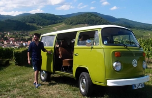 Paul and his camper van @ Vino Varlot