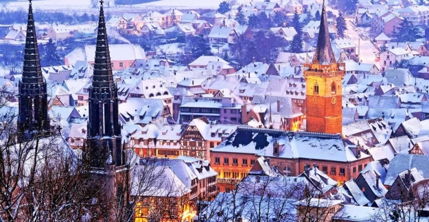 Obernai buried in snow ©Office de Toursime dObernai