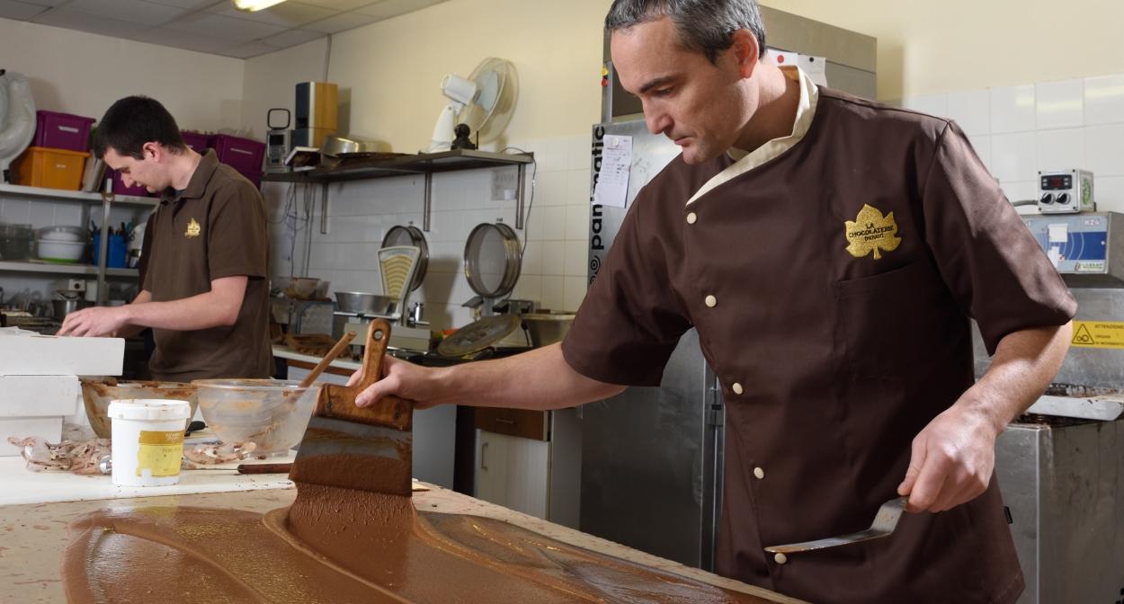Xavier Thibaut – chocolatier en Champagne © V. Montané
